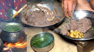 Nepali National Food    Sishnu \u0026 Dhido Cooking Dinner