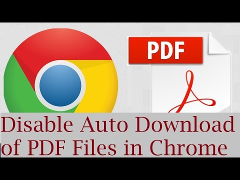 How to stop google chrome from automatically downloading the pdf files Instead Open in Google Chrome