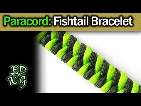 Fishtail Paracord Bracelet Tutorial (2 color weave)