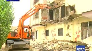 SBCA conducts anti-encroachment operation in Karachi