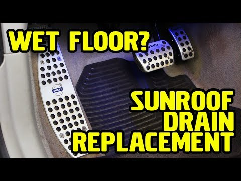 Volvo V50, Front Sunroof Drain Replacement