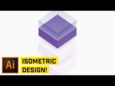 3D Isometric Cube Design in Adobe Illustrator CC