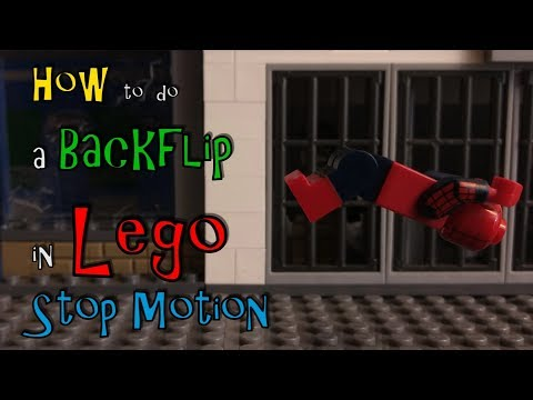 How to do a back flip in Lego stop motion