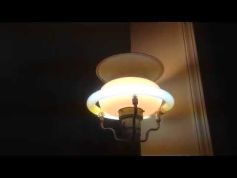 1940s Mitchell incandescent/fluorescent floor lamp