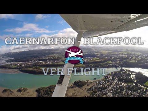 Caernarfon To Blackpool VFR (Liverpool Class D Zone Transit) | ATC Audio