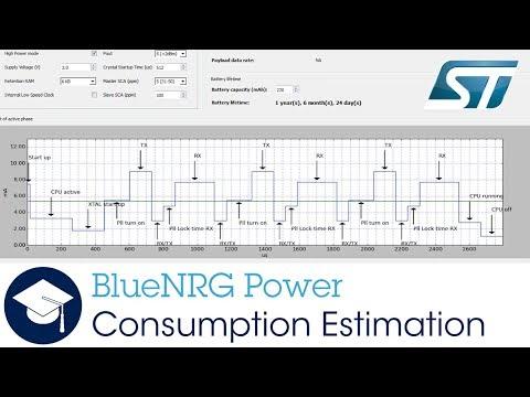 BlueNRG Power Consumption Estimation Tool