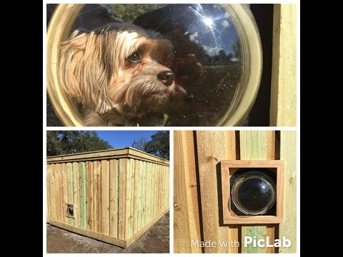 How To Install a Pet Window In Your Fence   PETPEEK