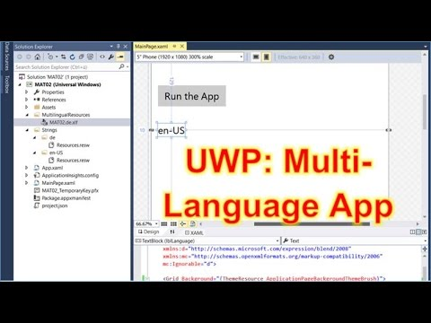 Solved: Create Multi Language App in Windows 10 Universal UWP, MAT, Multilingual, Localisation