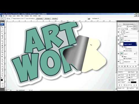 Photoshop Tutorial  how to make custom realistic sticker design