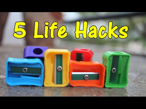5 Life hacks of Pencil Sharpener - A2C