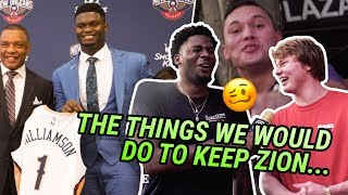 """""""I'd Suck His Toes."""" New Orleans Is Going INSANE For Zion Williamson! Draft Night With The Pelicans!"""