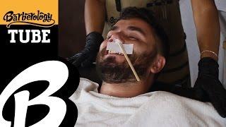 Nose Hair Waxing - #BarberologyTUBE