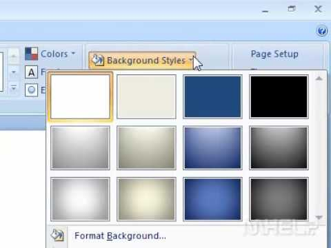 How to apply a background style to a presentation