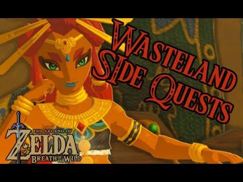 The Legend of Zelda:  Breath of the Wild Side Quests Wasteland Tower Region