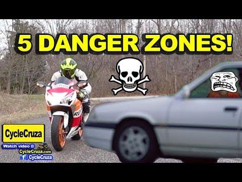 Top 5  DANGER ZONES For Motorcycle Riders | MotoVlog