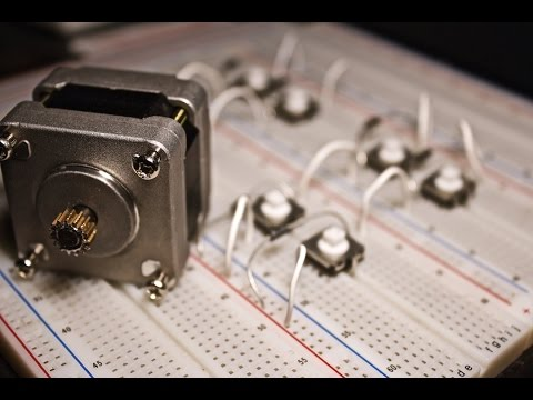 Stepper Motor Basics - Demo with just Push Buttons!