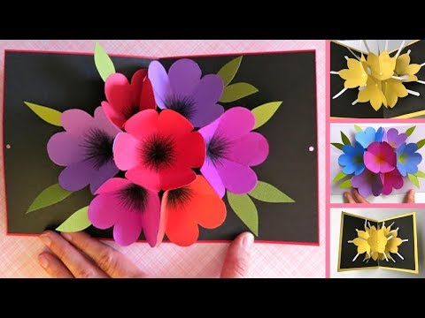 DIY POP UP FLOWER | GIFT CARD | PAPER CRAFT | HANDMADE CRAFT | BY Dots DIY