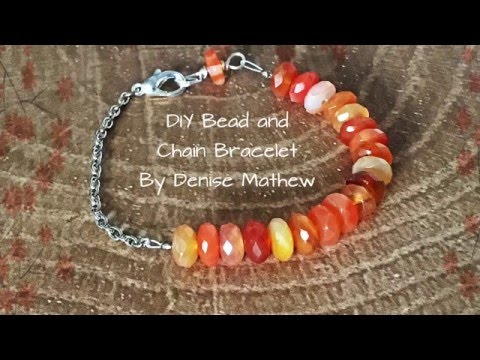 Chain and Bead Bracelet by Denise Mathew