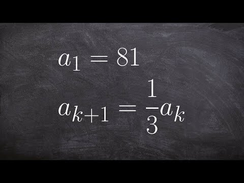 Learn how to find the first five terms of a sequence using the recursive formula
