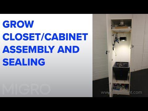 Closet grow build #2 - Cabinet assembly