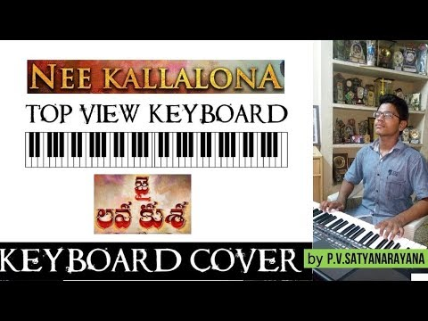 nee kallalona from jai lava kusa top view keyboard cover  by p.v.satyanarayana