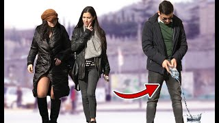 Peeing in Public Prank!   AWESOME REACTIONS   Best of Just For Laughs