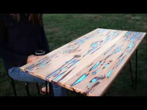 How To Make Glow-In-The-Dark Table With Photoluminescent Resin