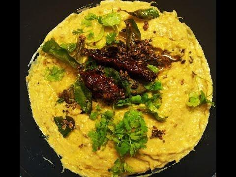 Aratikaya perugu pachadi -Raw banana curd chutney-kache kele ka chutney
