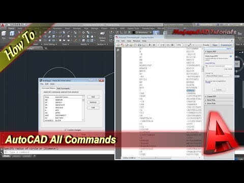 Autocad How To See All Commands And Save Into PDF