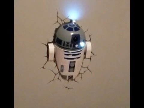 3DLightFX Star Wars R2-D2 Wall Light Instructional Review