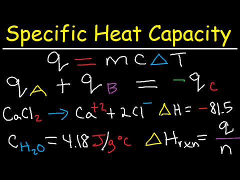 Specific Heat Capacity Problems & Calculations - Chemistry Tutorial - Calorimetry