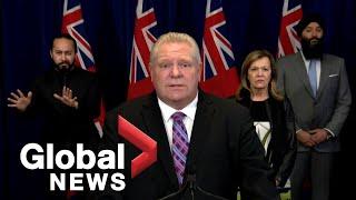 Coronavirus outbreak: Ontario government issues emergency alert on COVID-19 | FULL