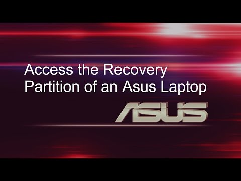Access the recovery partition of an Asus laptop