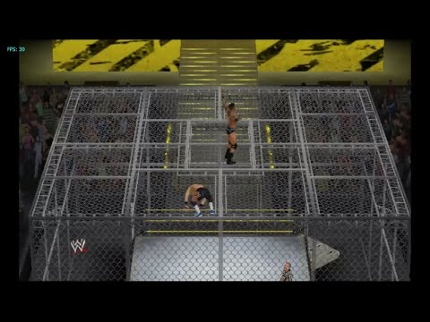 wwe'13 gameplay full hell  match with dolphin emulator(SORRY FOR BAD QUALITY SCREEN RECORDER)