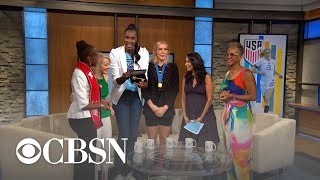 NYC first lady Chirlane McCray surprises USWNT's Allie Long
