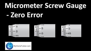 Micrometer Screw Gauge Zero Error Physics Myhometuitioncom