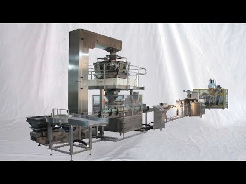 Laundry washing powder making line integrated with powder bagging packing equipment