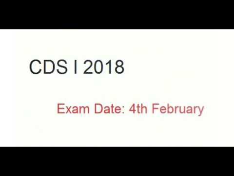 UPSC CDS 1 2018 APPLICATION FORM - APPLY ONLINE