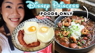 I Only Ate Disney Princess Foods For 24 Hours