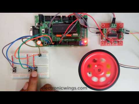 Speed and direction control of DC motor using 8051