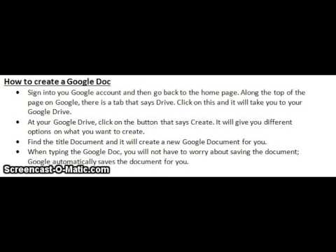How to Access Your Google Account and Create Google Docs