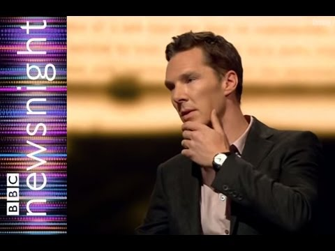 Beneditch Cumberbatch on fan mail and the importance of letters - Newsnight