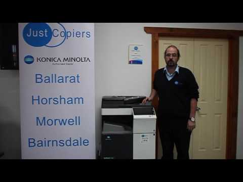 Obtaining a Meter Read / Page Count on a Konica Minolta Bizhub Photocopier