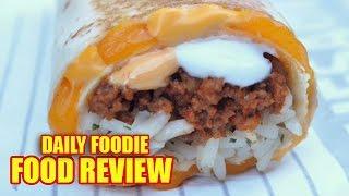 Taco Bell Quesarito Review - Seasoned Beef Menu Mashup