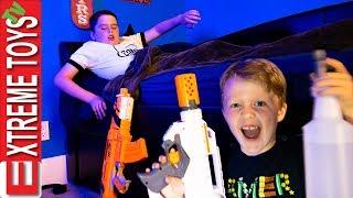 Strange Dream Time In An Abandoned Hotel! Crazy Sleep Nerf Blaster Showdown!