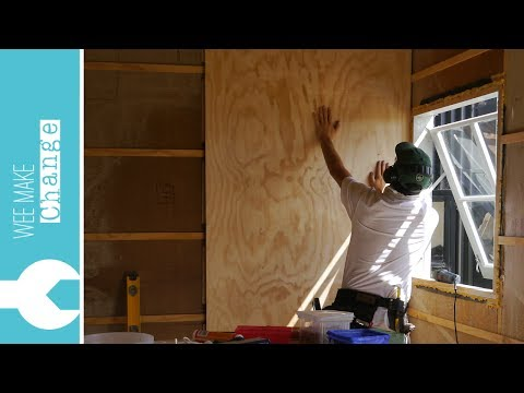 How to Line Walls and Ceiling with Plywood