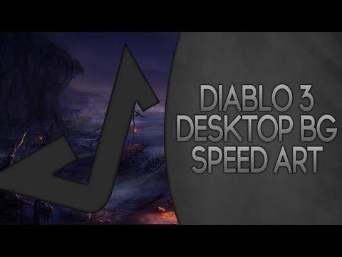 Diablo 3 Desktop Background - Speed Art