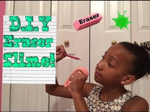 D.I.Y eraser Slime test! ~ back to school with Gigi!