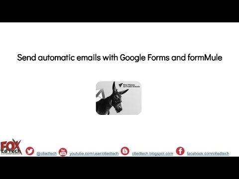 Send automatic email responses with Google Forms and formMule