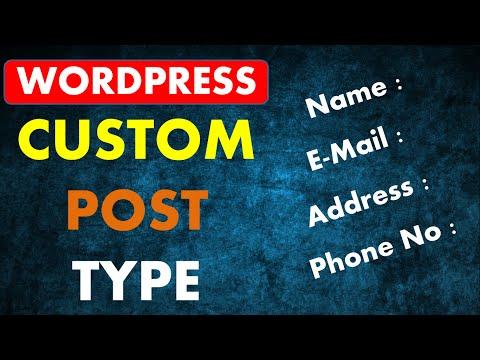 Wordpress Custom Post Type | Custom Post Type Wordpress